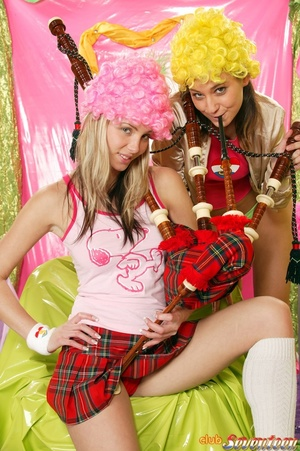 PLayful lesbians end up toying and cummi - XXX Dessert - Picture 1