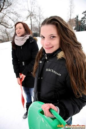 Sweet lesbian girls love scissoring - XXX Dessert - Picture 3