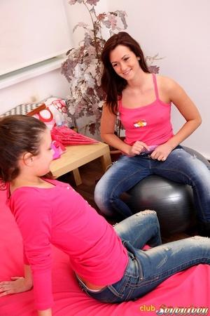 Sweet lesbian girls love scissoring - XXX Dessert - Picture 5