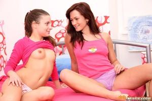 Sweet lesbian girls love scissoring - XXX Dessert - Picture 6