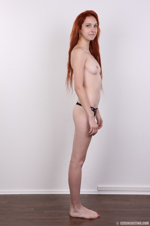 Hot young redhead strips naked and expos - XXX Dessert - Picture 11