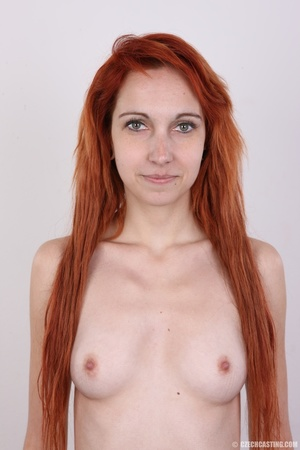 Hot young redhead strips naked and expos - XXX Dessert - Picture 13