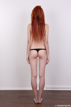 Hot young redhead strips naked and expos - XXX Dessert - Picture 16