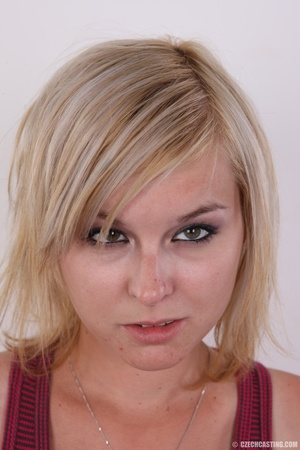 Cute blonde wants more than sitting on h - XXX Dessert - Picture 1
