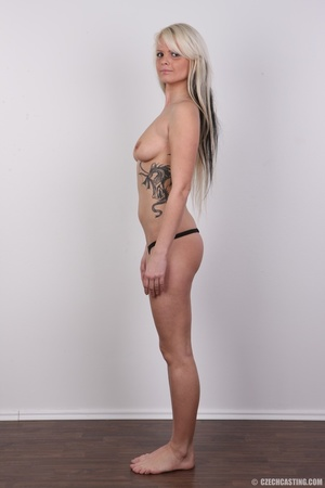 Blondie with pierce and tattoos strips l - XXX Dessert - Picture 11