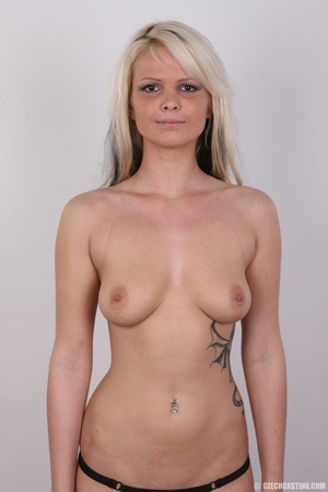Blondie with pierce and tattoos strips l - XXX Dessert - Picture 14