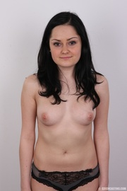 sweet and horny brunette