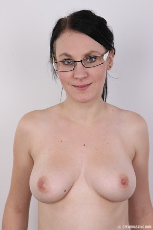 Tattoed girl with eyeglasses hides a dee - XXX Dessert - Picture 10