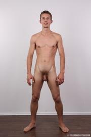 skinny blonde guy has