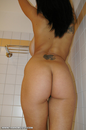 Teen chick with tattoos looks erotic in  - XXX Dessert - Picture 12