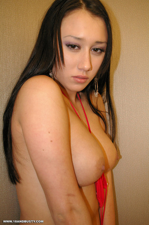 Erotic chick with long black hair displa - XXX Dessert - Picture 5