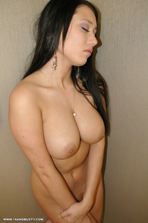 Erotic chick with long black hair displa - XXX Dessert - Picture 12