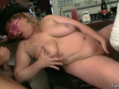 Three horny fat girls in fancy hats and glasses give - Picture 16