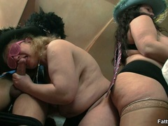 Kinky videos of hot BBW action with three fat babes - Picture 12