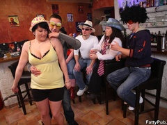 Fun loving fat girls go wild in hot BBW action sucking - Picture 3