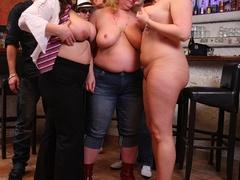 Fun loving fat girls go wild in hot BBW action sucking - Picture 7