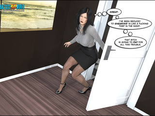 Chief security in glasses finds brunette secretary - Picture 1