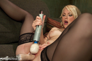 Very sexy blonde uses big dildo and gets - XXX Dessert - Picture 9