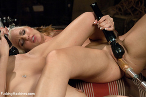 Two lesbian sex models drive each other  - XXX Dessert - Picture 6