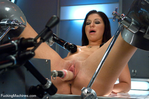 Pretty chick plays with big sex toys and - XXX Dessert - Picture 2
