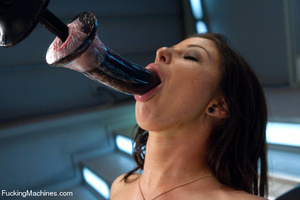 Pretty chick plays with big sex toys and - XXX Dessert - Picture 6