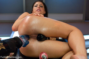 Pretty chick plays with big sex toys and - XXX Dessert - Picture 14