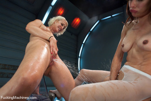 Double action as two lesbians enjoy touc - XXX Dessert - Picture 10