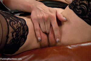 Pretty sexy damsel moans all the way to  - XXX Dessert - Picture 1