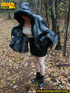 shy teen wrapped hooded