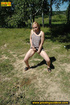 blonde naughty chick slides