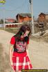 hot girl red raises
