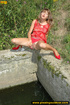 lady red with hot