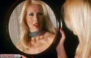 retro blond model red
