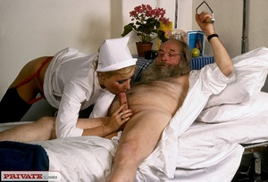 Classic blond nurse seduces horny old pa - XXX Dessert - Picture 12