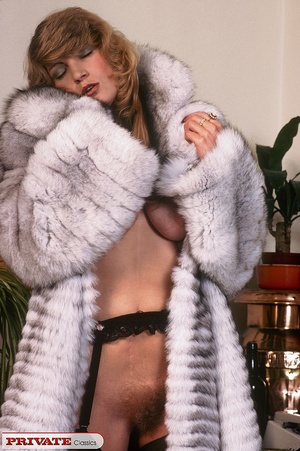Classic hot lady in furry coat masturbat - XXX Dessert - Picture 2