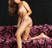 Seductive and hot girl smiles as she exposes real sexy pussy, ass and