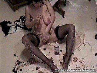 cute horny chick feeds