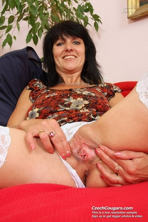 Black hair mom show cute small tits, wide pussy and plays with long slim dildo - XXXonXXX - Pic 4