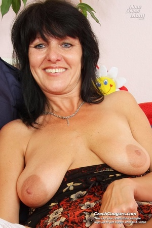 Black hair mom show cute small tits, wide pussy and plays with long slim dildo - XXXonXXX - Pic 6