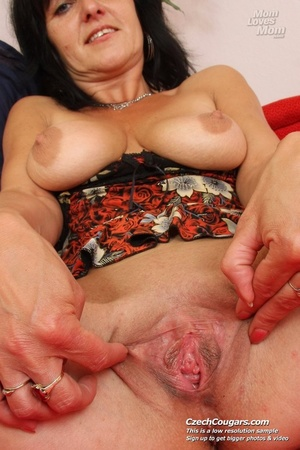 Black hair mom show cute small tits, wide pussy and plays with long slim dildo - XXXonXXX - Pic 10