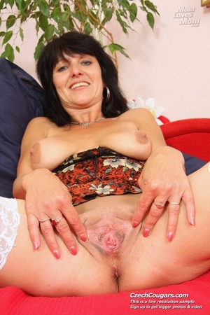 Black hair mom show cute small tits, wide pussy and plays with long slim dildo - XXXonXXX - Pic 15