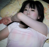 Innocent looking Asian teen shows off hot body and gets pleasured with