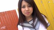 young asian girl uniform