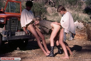 Two horny guys fuck a chick hard in the  - XXX Dessert - Picture 13