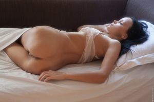 Tanned girl enjoys her morning alone and - XXX Dessert - Picture 1