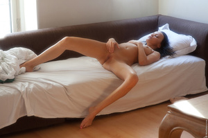 Tanned girl enjoys her morning alone and - XXX Dessert - Picture 8
