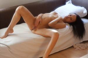 Tanned girl enjoys her morning alone and - XXX Dessert - Picture 9