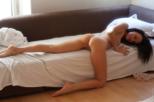 Tanned girl enjoys her morning alone and - XXX Dessert - Picture 12
