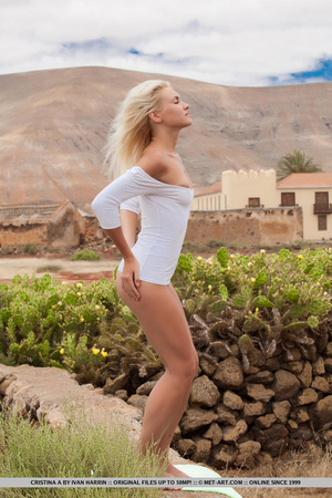 Blue eyed blondie shows that desert summ - XXX Dessert - Picture 3