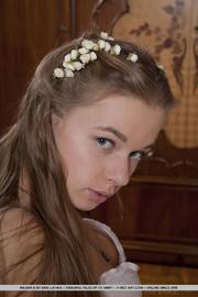 young blonde enjoys wedding